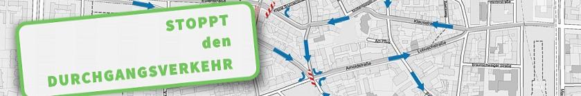 Aktueller Stand unserer Eingabe an den Verkehrsausschuss Altona: Durchgangsverkehr stoppen und Bewohnerparken einführen