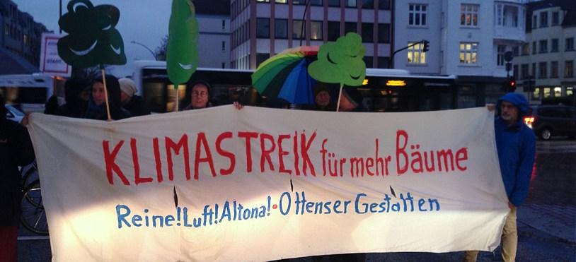 2. Klimastreik-Aktion auf der Max-Brauer-Allee